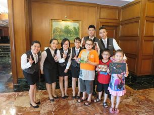 Zi Yuan and his family at The Ritz-Carlton, Kuala Lumpur